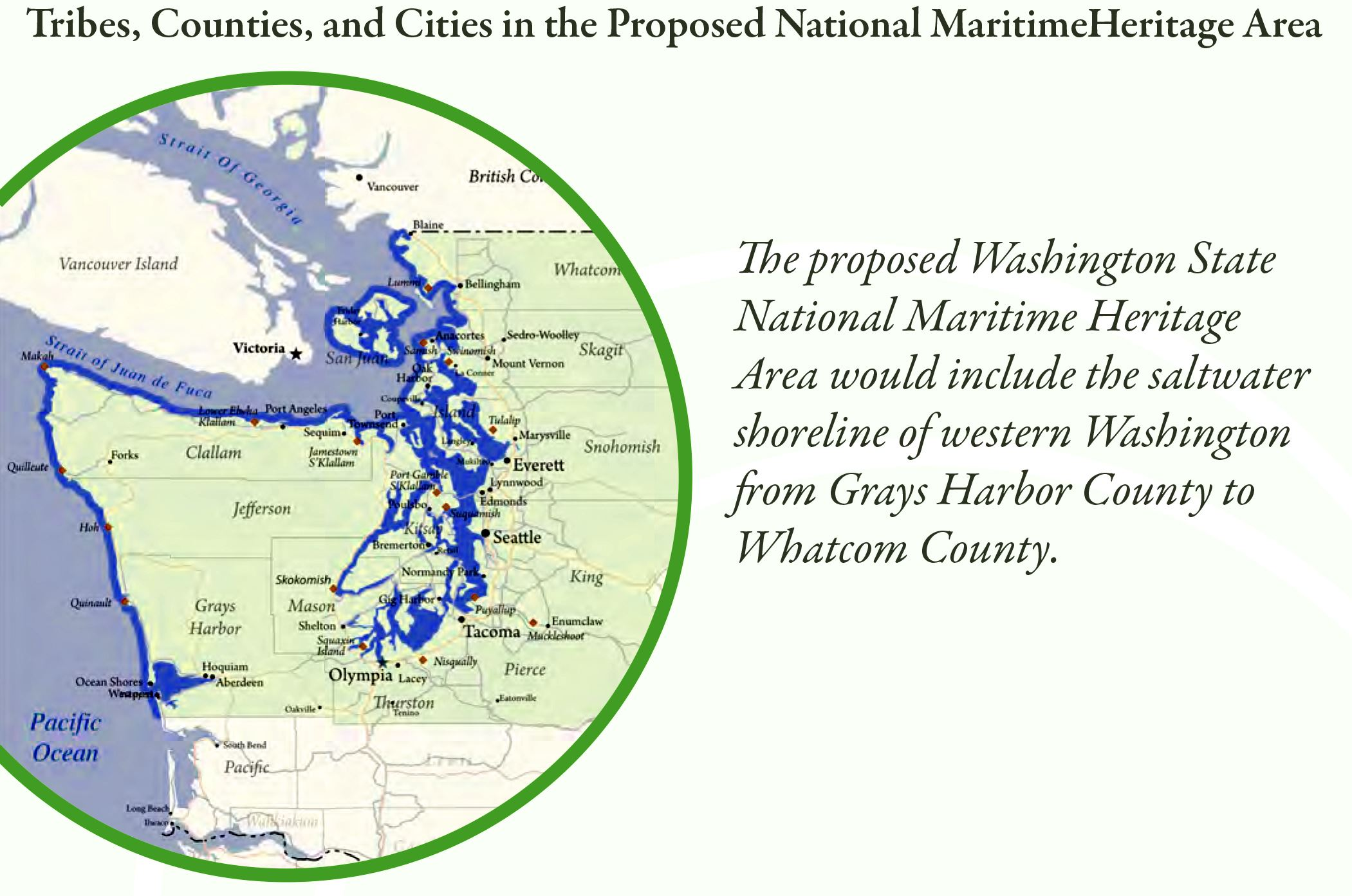 Proposed National Maritime Heritage Area Map